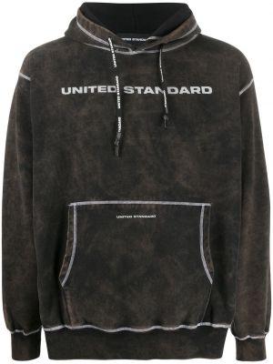 Приталенная черная толстовка с капюшоном United Standard