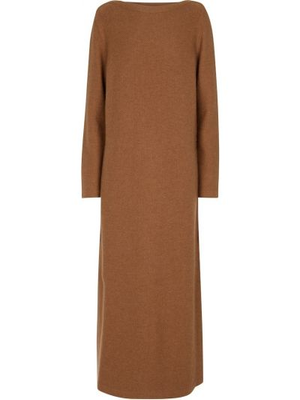 Вечернее платье миди - коричневое Loro Piana