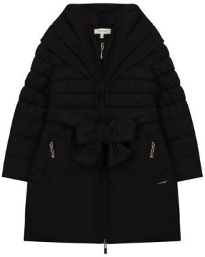 Пальто черное стеганое Twinset