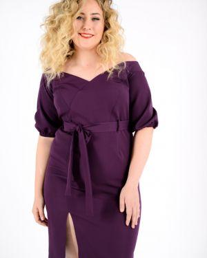 Платье с поясом с декольте платье-сарафан Jetty-plus