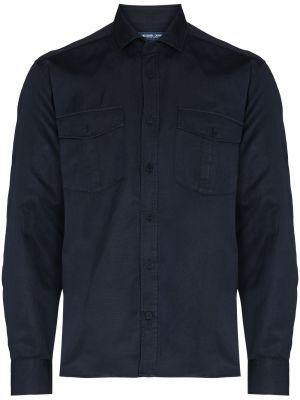 Niebieska koszula bawełniana Frescobol Carioca