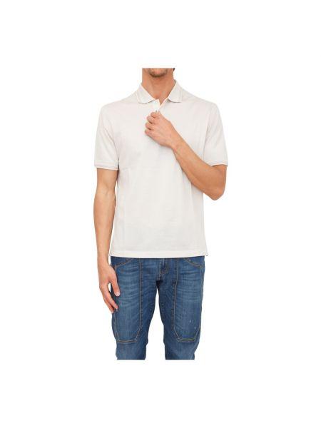 Beżowa koszulka Ermenegildo Zegna