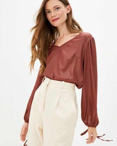 Бордовая блузка с длинным рукавом с длинными рукавами Imperial