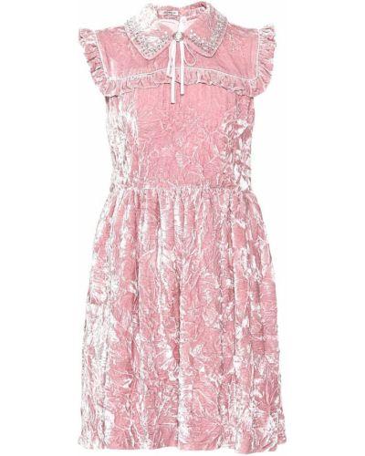 Платье с вышивкой шелковое Miu Miu