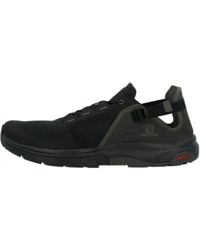 Текстильные черные полуботинки на шнурках Salomon