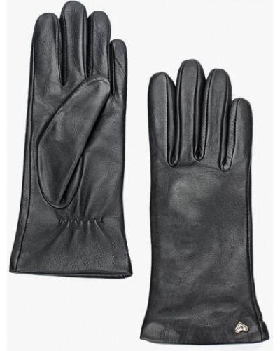 Кожаные перчатки черные Fabretti