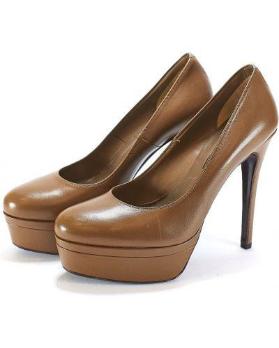 Туфли на шпильке - коричневые Albano