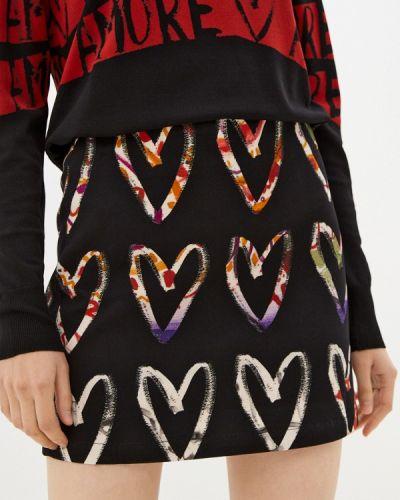 Прямая юбка - черная Desigual