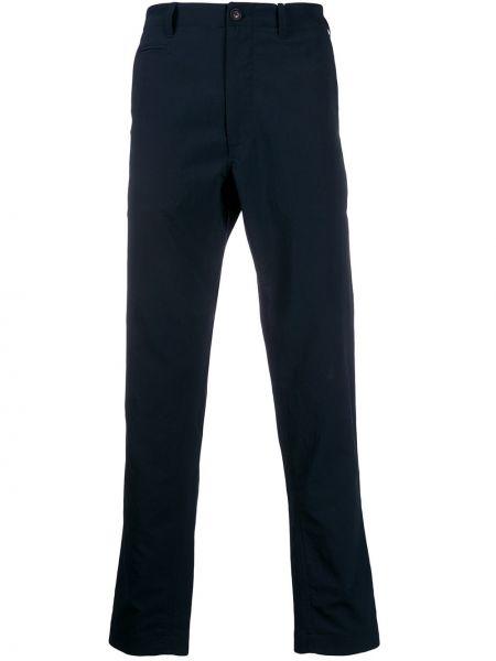 Niebieskie spodnie z paskiem Nanamica