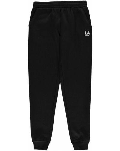 Czarne spodnie bawełniane La Gear