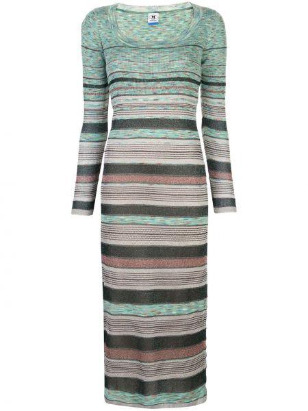Платье макси в полоску с рукавами M Missoni