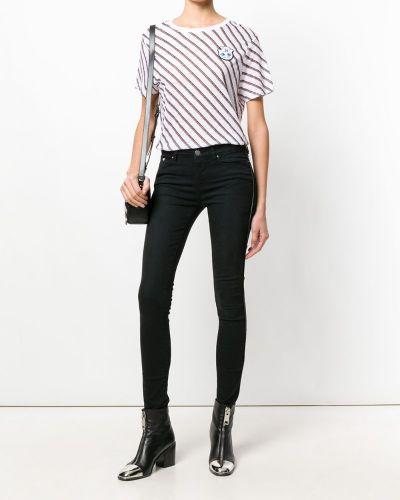 Белая льняная футболка Karl Lagerfeld
