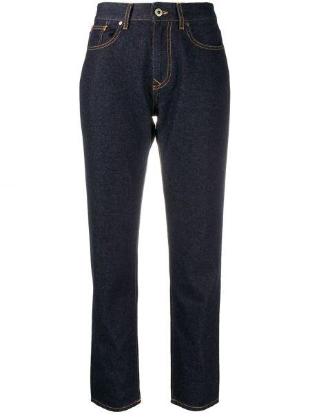 Хлопковые прямые укороченные джинсы с поясом Vivienne Westwood