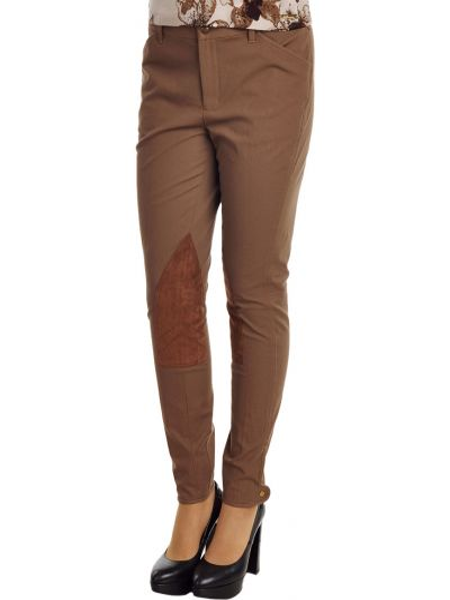 Хлопковые брюки - коричневые Ralrh Lauren