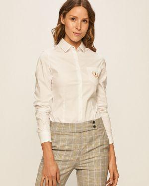 Biała koszula elegancka bawełniana Trussardi Jeans