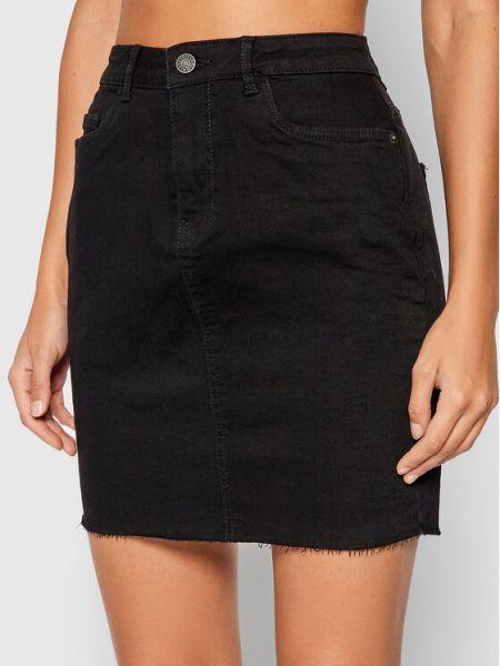 Spódnica jeansowa - czarna Noisy May