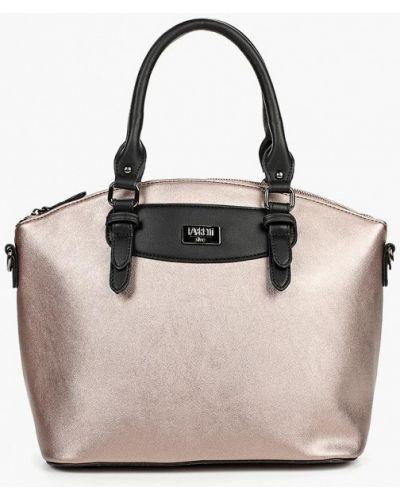 Кожаный сумка с ручками розовый Fabretti