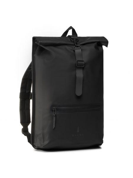 Czarny plecak Rains