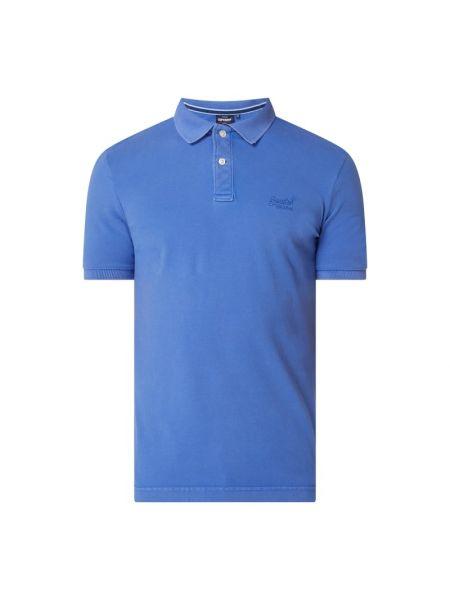 T-shirt bawełniana - fioletowa Superdry