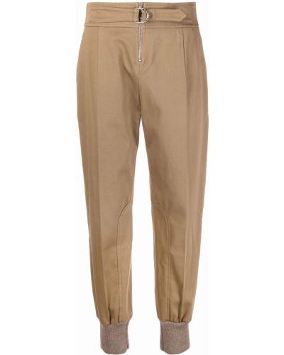 Шерстяные брюки - коричневые Chloé