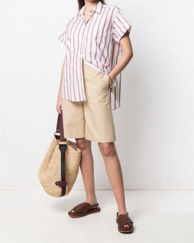 Классическая рубашка с короткими рукавами в полоску с воротником Paul Smith