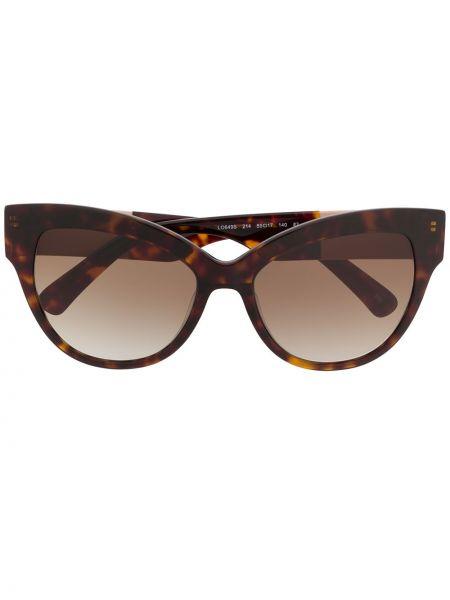 Okulary przeciwsłoneczne dla wzroku z logo szkło Longchamp