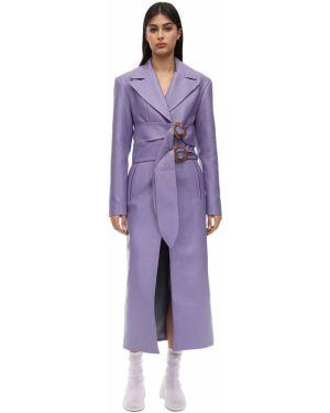 Кожаное пальто с карманами с лацканами Matériel