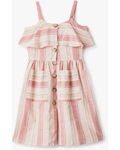 Повседневное розовое платье Defacto