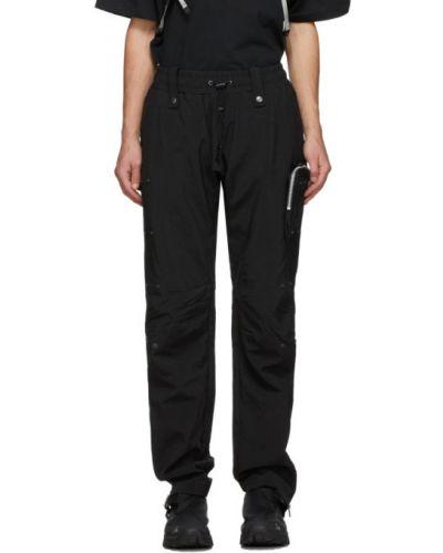 Czarne spodnie z paskiem z nylonu Blackmerle