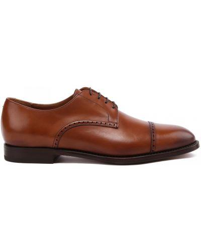 Коричневые кожаные туфли закрытые Franceschetti
