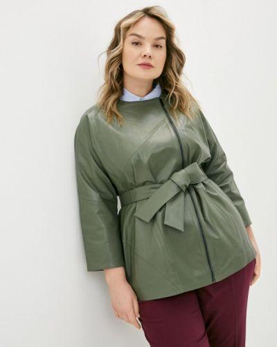 Кожаная куртка хаки Le Monique