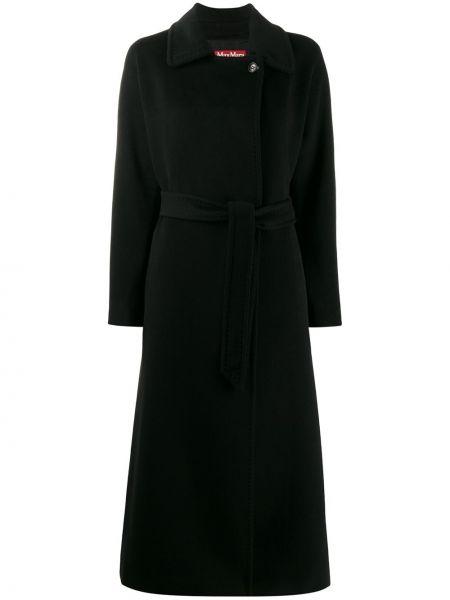 Шерстяное пальто с воротником с поясом на пуговицах Max Mara Studio