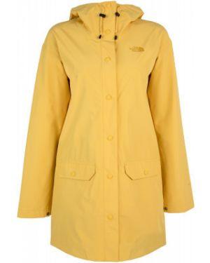 Свободная желтая куртка с капюшоном на кнопках свободного кроя The North Face