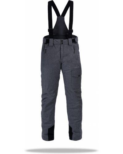 Классические брюки с манжетами - серые Freever