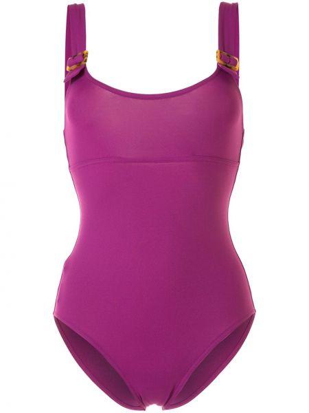 Фиолетовый пляжный слитный купальник с вырезом Eres