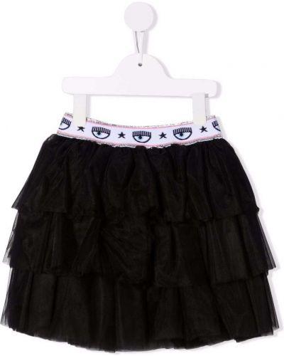 Czarna spódniczka mini tiulowa Chiara Ferragni Kids
