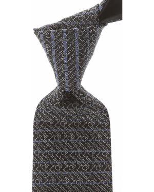 Krawat srebrny - czarny Christian Lacroix