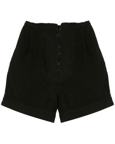 Черные шорты с карманами на пуговицах Osklen