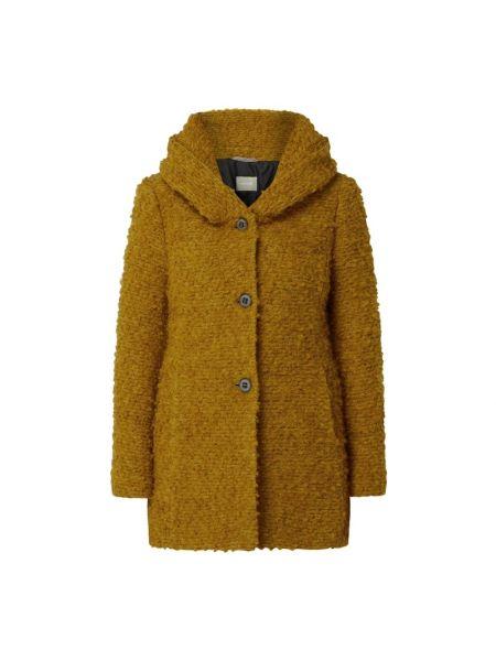Żółta kurtka z kapturem wełniana Amber & June