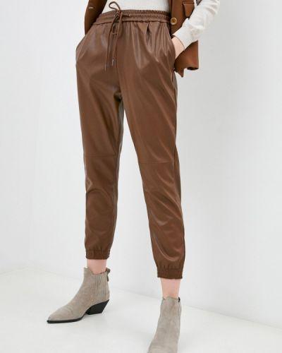Коричневые кожаные брюки Softy
