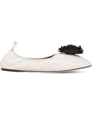 Białe balerinki skorzane Loewe