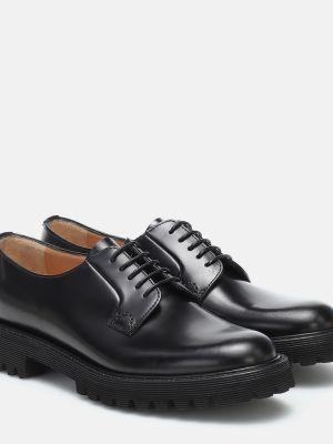 Skórzany czarny buty brogsy Churchs