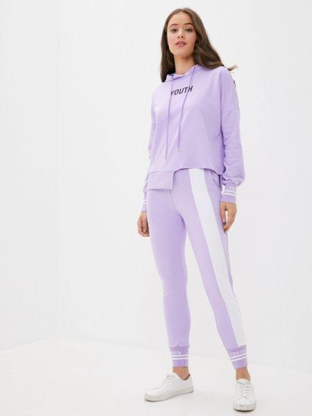 Костюмный фиолетовый спортивный костюм Grand Style