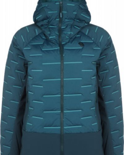 Пуховая синяя куртка на молнии Mountain Hardwear