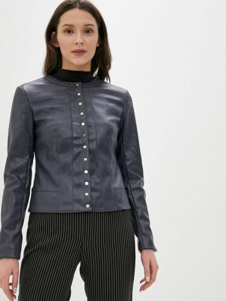 Кожаная серая клубная кожаная куртка Concept Club