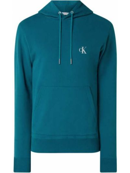 Bluza kangurka - turkusowa Calvin Klein Jeans