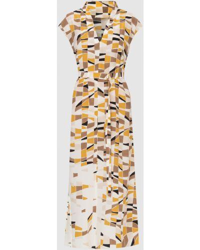 Бежевое шелковое платье макси Loro Piana