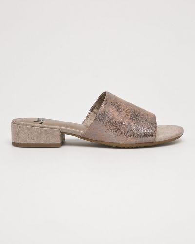 Сандалии на каблуке текстильные Jana
