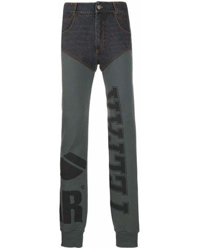 Черные брюки с нашивками с высокой посадкой на молнии Telfar