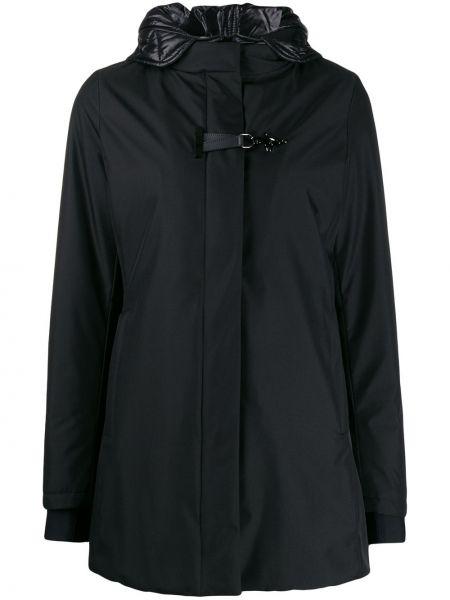 Пальто с капюшоном длинное стеганое Fay